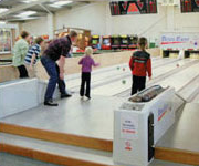 Ten pin bowling at Aberystwyth Holiday Village